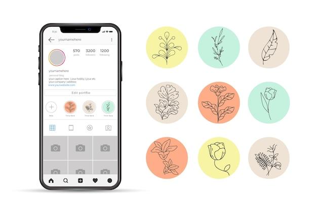 Najważniejsze narysowane ręcznie na instagramie kwiatowe historie