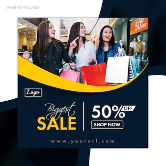 Największa oferta sprzedaży social media post szablon banner www