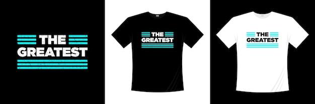 Największy projekt koszulki typograficznej