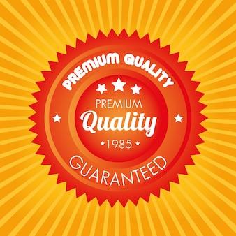 Najwyższej jakości gwarantowana pomarańczowa naklejka