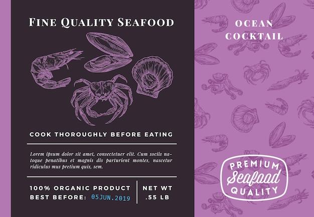 Najwyższej jakości streszczenie koktajl z owoców morza