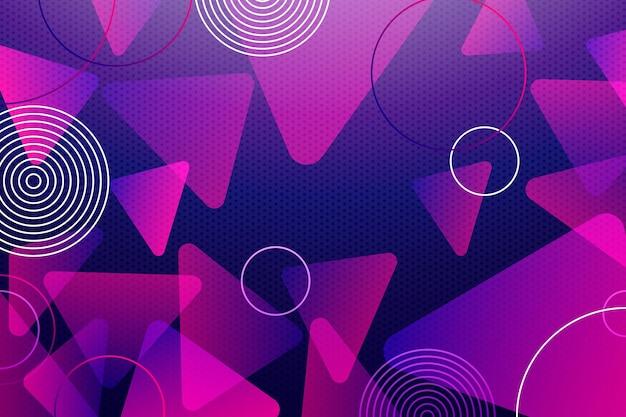 Nakładające się tło tworzy fioletowe odcienie