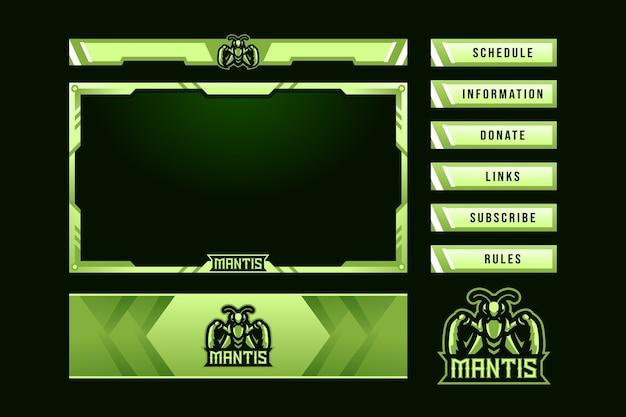 Nakładka na panel do gier mantis