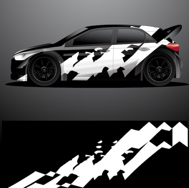 Naklejka graficzna na samochód rajdowy