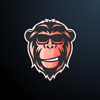 Naklejka małpa fajne okulary