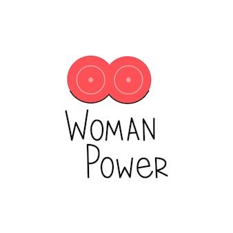 Naklejka moc kobiety z kobiecą piersią
