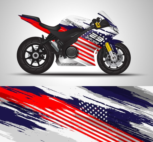 Naklejka na motocykl i naklejka winylowa