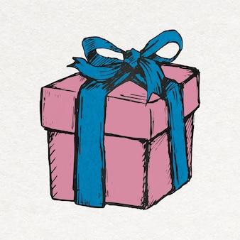 Naklejka na prezent urodzinowy w kolorowym stylu vintage