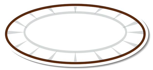 Naklejka na pusty talerz na przybory kuchenne