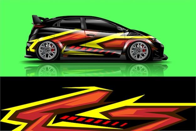 Naklejka na samochód wyścigowy, zestaw do oklejania wszystkich pojazdów