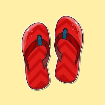 Naklejka na sandały ilustracja wektorowa