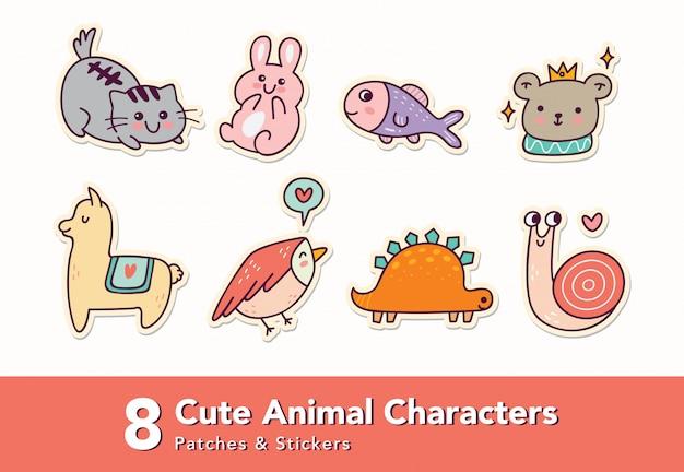 Naklejka postaci zwierząt