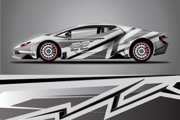 Naklejka samochodowa wrap design vector