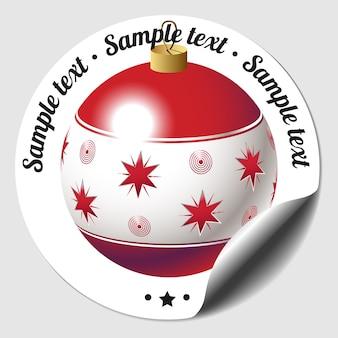 Naklejka świąteczna bombka
