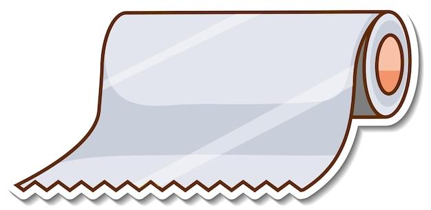 Naklejka w rolce bibuły na białym tle