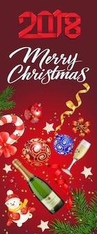 Naklejka wesołych świąt