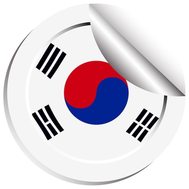 Naklejka z flagą korei południowej