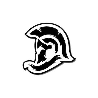 Naklejka z logo na kask spartan dla drużyny e-sportowej