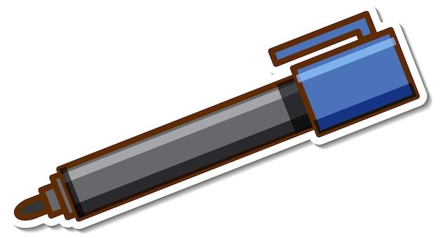 Naklejka z markerem na białym tle