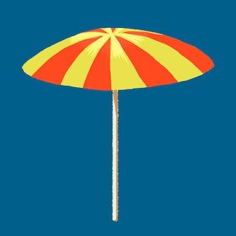 Naklejka z parasolem plażowym w motywie wakacji letnich