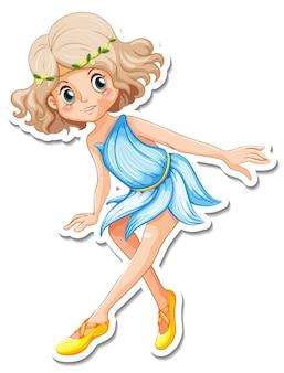 Naklejka z postacią z kreskówki małego anioła
