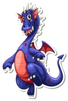 Naklejka z postacią z kreskówki smoka fantasy