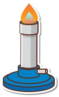 Naklejka ze sprzętem laboratoryjnym palnika bunsena