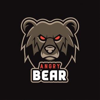 Naklejka ze złym niedźwiedziem