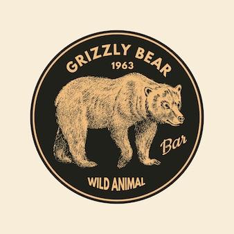 Naklejki dzikich zwierząt w stylu vintage