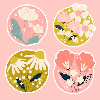 Naklejki kwiaty i rośliny