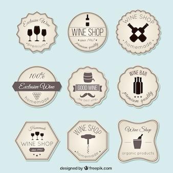 Naklejki na wino w stylu vintage