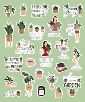 Naklejki z roślinami domowymi