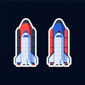 Naklejki ze statkiem kosmicznym