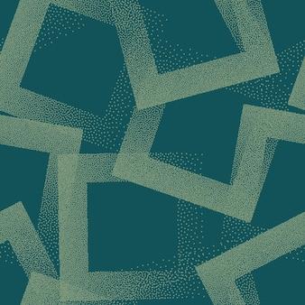 Nakrapiane kwadraty jednolity wzór retro kolorowe turkusowe abstrakcyjne tło