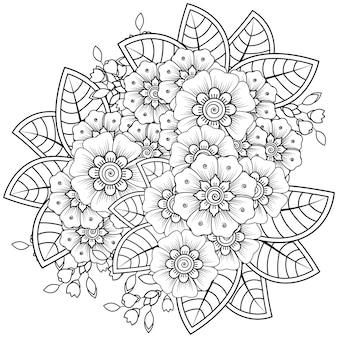 Nakreśl kompozycję kwiatową w stylu mehndi.