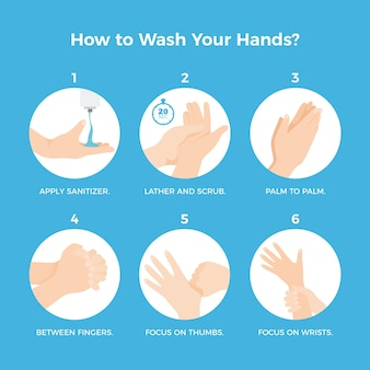 Nałóż masę i pokryj całą powierzchnię dłoni wodą i mydłem