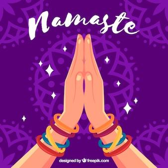 Namaste powitanie tle