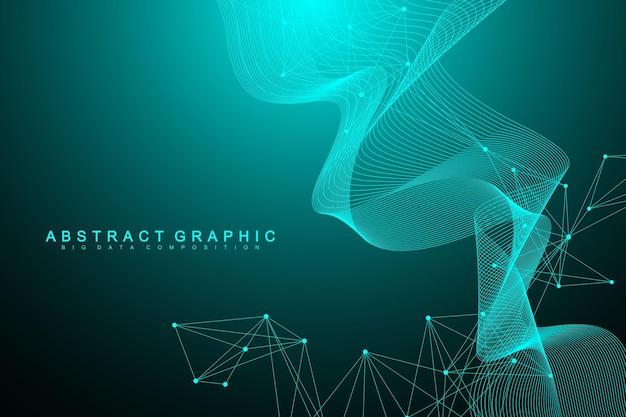 Nano technologie streszczenie tło. koncepcja technologii cybernetycznej. sztuczna inteligencja, rzeczywistość wirtualna, bionika, robotyka, sieć globalna, mikroprocesor, nano roboty. ilustracja wektorowa, baner