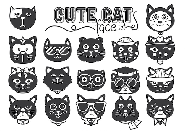Napełniać twarze słodkich kotów