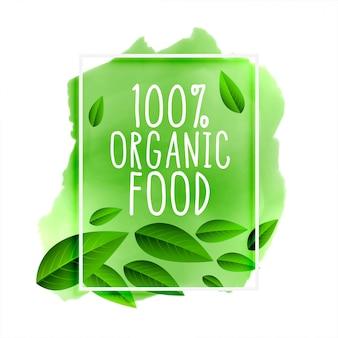 Napis 100% żywności ekologicznej