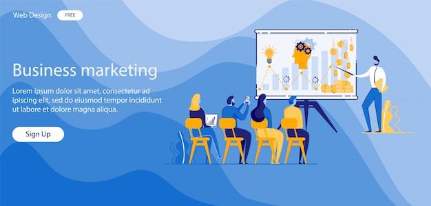Napis business marketing ilustracji wektorowych