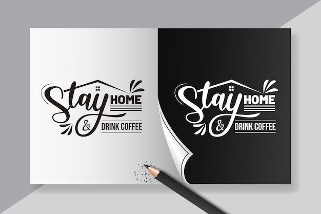 Napis cytatów z kawy dla inspiracji plakatu kawiarni