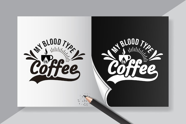 Napis cytatów z kawy do projektowania plakatów i koszulek