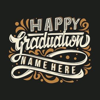 Napis happy graduation strony
