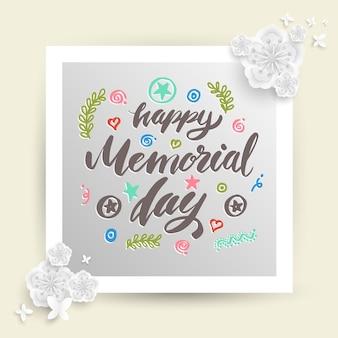 Napis happy memorial day.