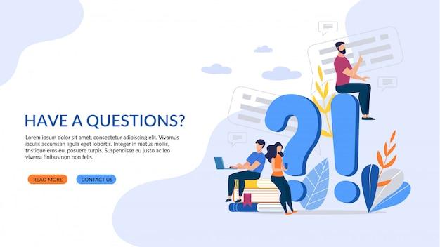 Napis informacyjny plakat masz pytania?