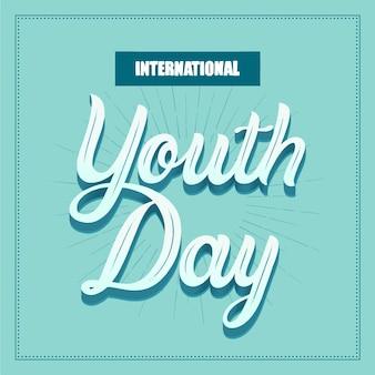 Napis kreatywny dzień młodzieży