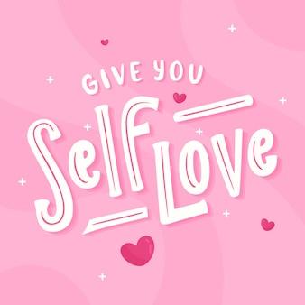 Napis kreatywny miłość siebie