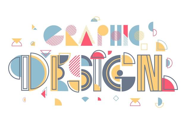 Napis kreatywny projekt graficzny