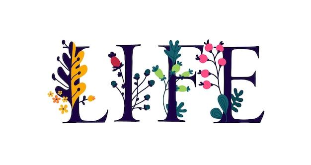 Napis life is w języku angielskim
